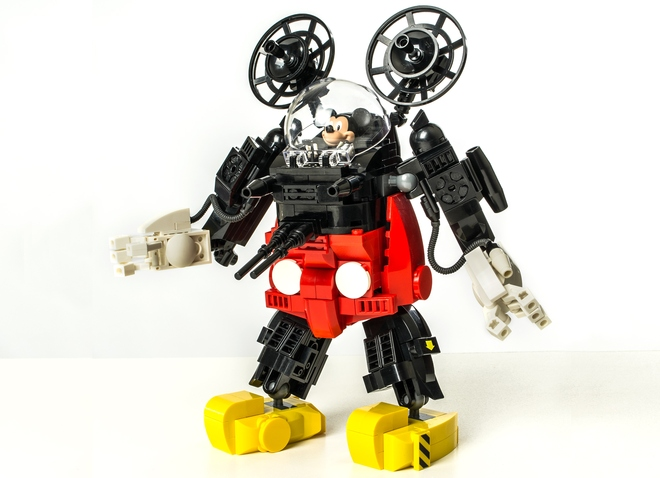 Mickey Mouse Will Crush You With His Lego Mech Suit