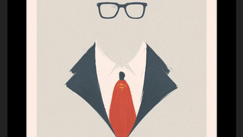 Cool Superhero Art Combines Superman and Clark Kent