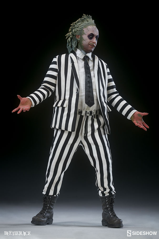 beetlejuice action figure review sideshow collectibles geektyrant