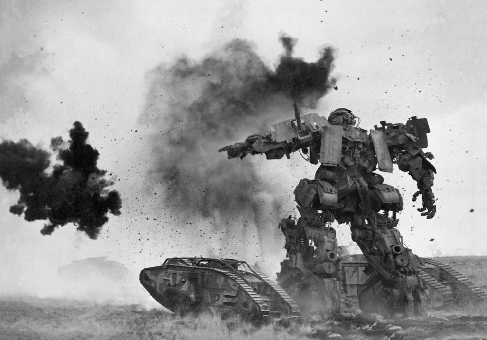 check out bumblebee in wwii in new transformers the last knight