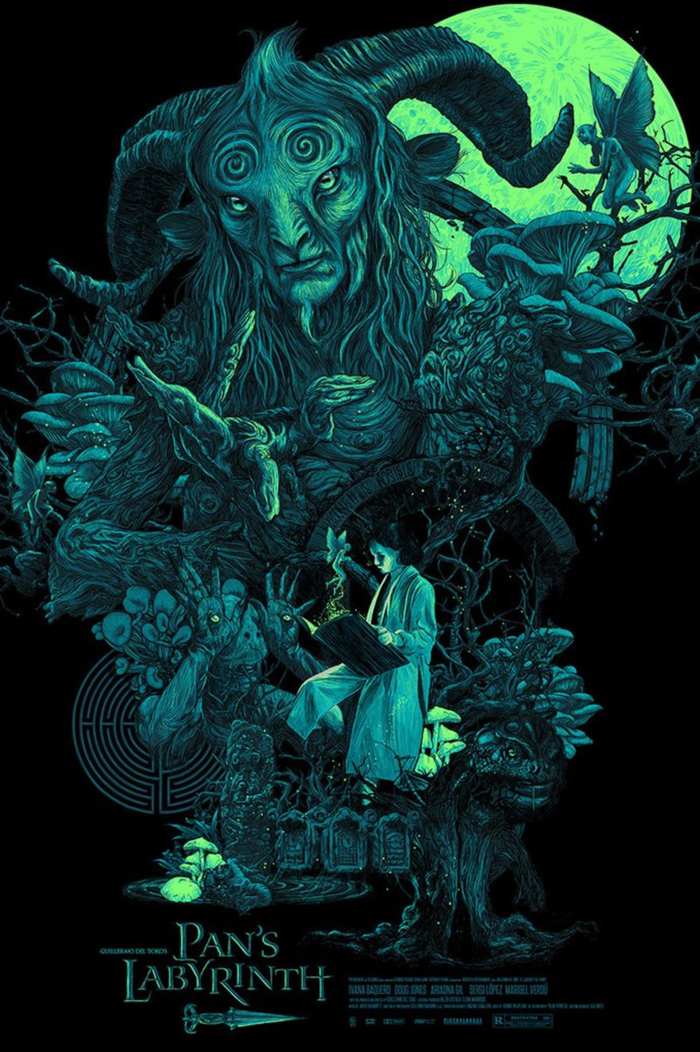 Hero complex gallery 39 s blacklight art show puts pop culture icons in a new light geektyrant - Fresh pan s labyrinth wallpaper ...