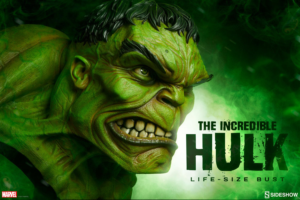Wicked Cool Life Size Incredible Hulk Bust From Sideshow