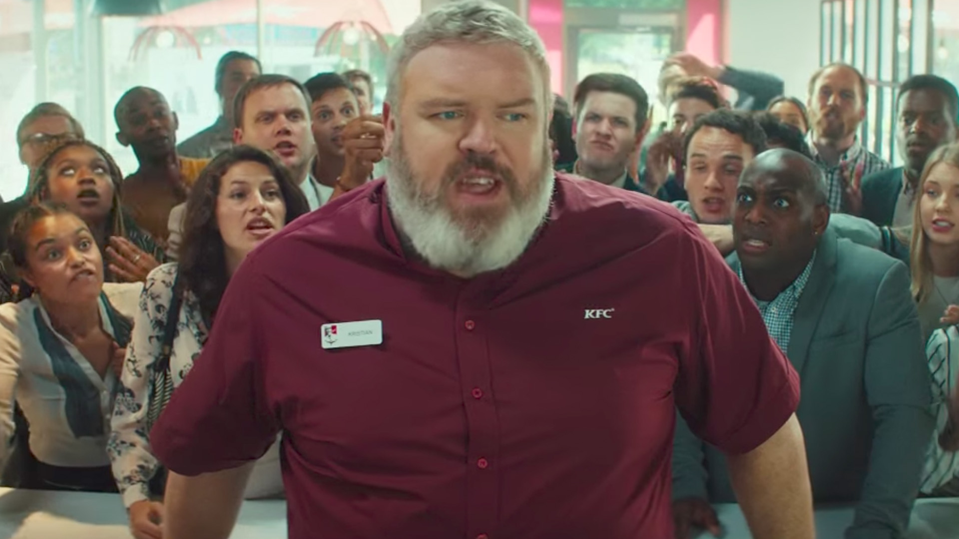kfc enlists actor kristian nairn hodor for a game of thrones