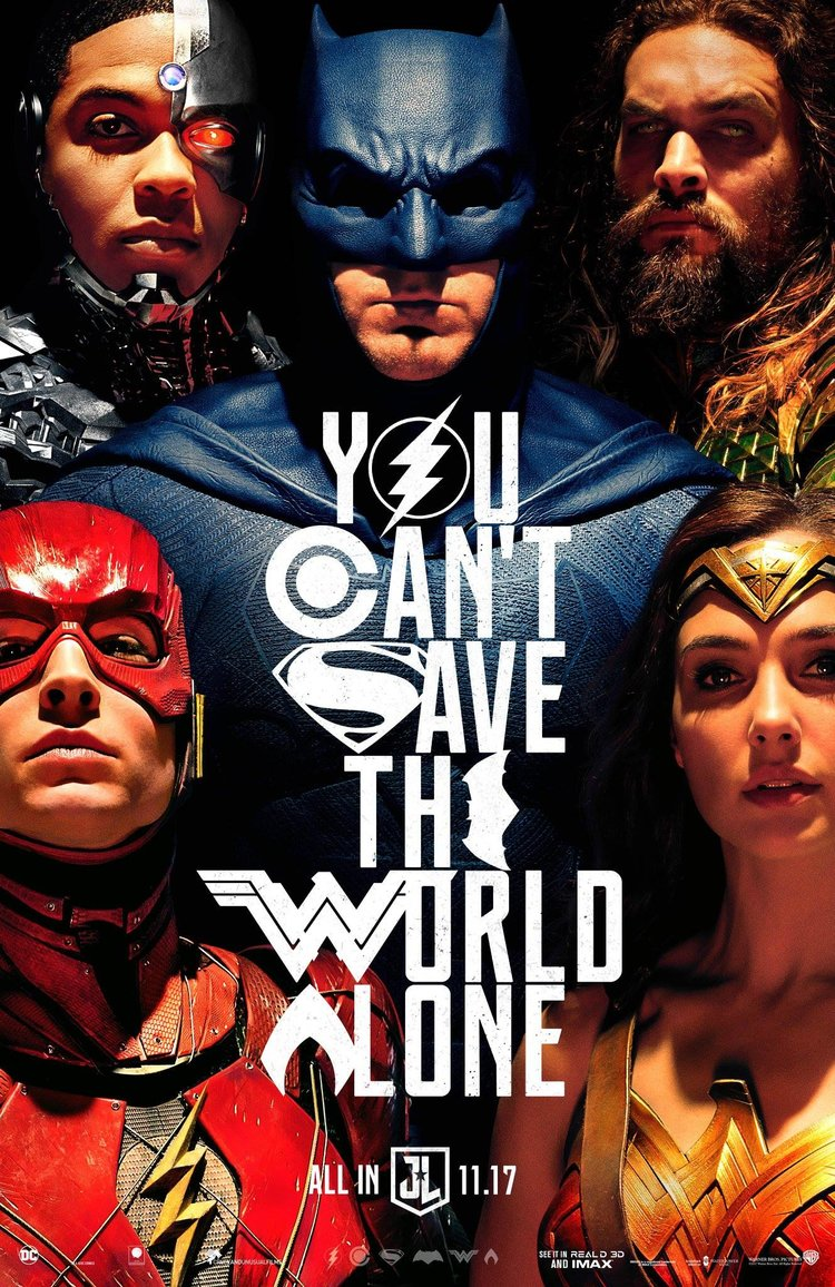 New Justice League Poster You Cant Save The