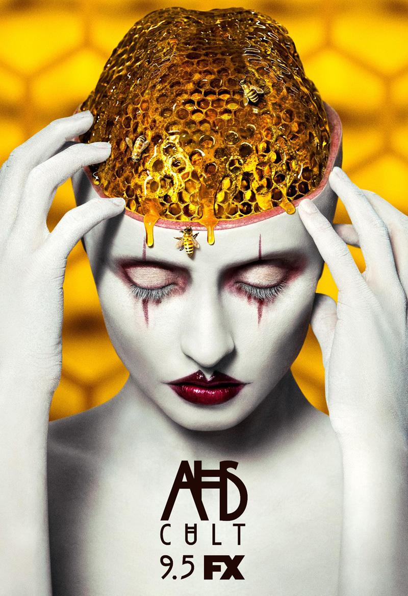 AMERICAN HORROR STORY: CULT Poster Features a Clown with a Honeycomb Brain