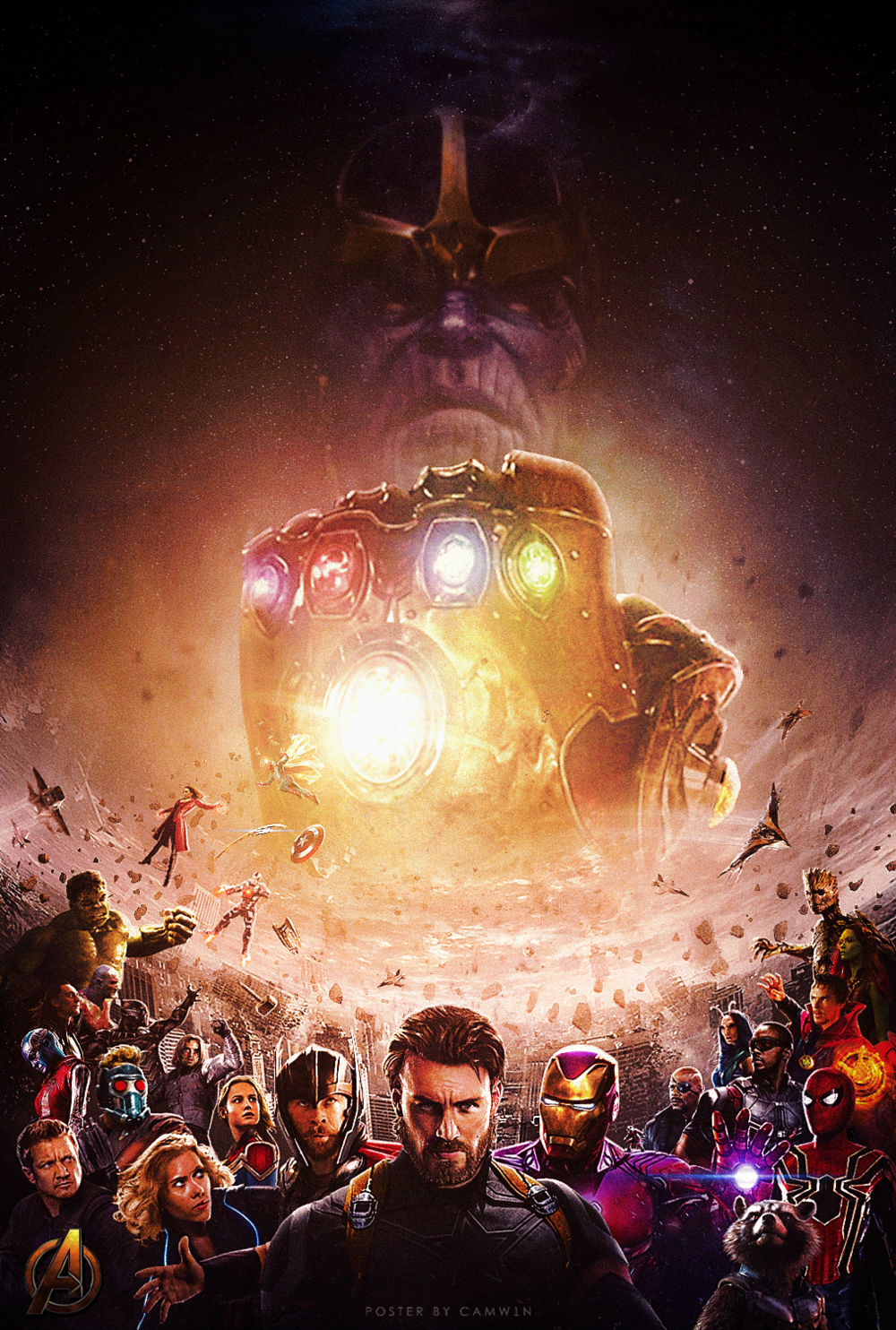 Cool Fan-Made Poster For AVENGERS: INFINITY WAR — GeekTyrant