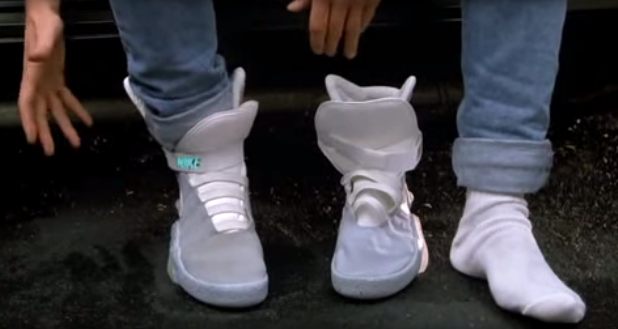 Marty McFly's BACK TO THE FUTURE II NIKE Air Mags going up