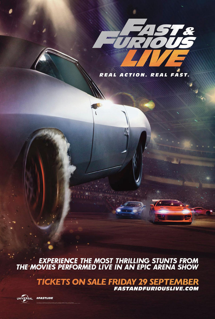 Trailer And Details Released For The FAST FURIOUS LIVE Arena Show - Fast and furious car show
