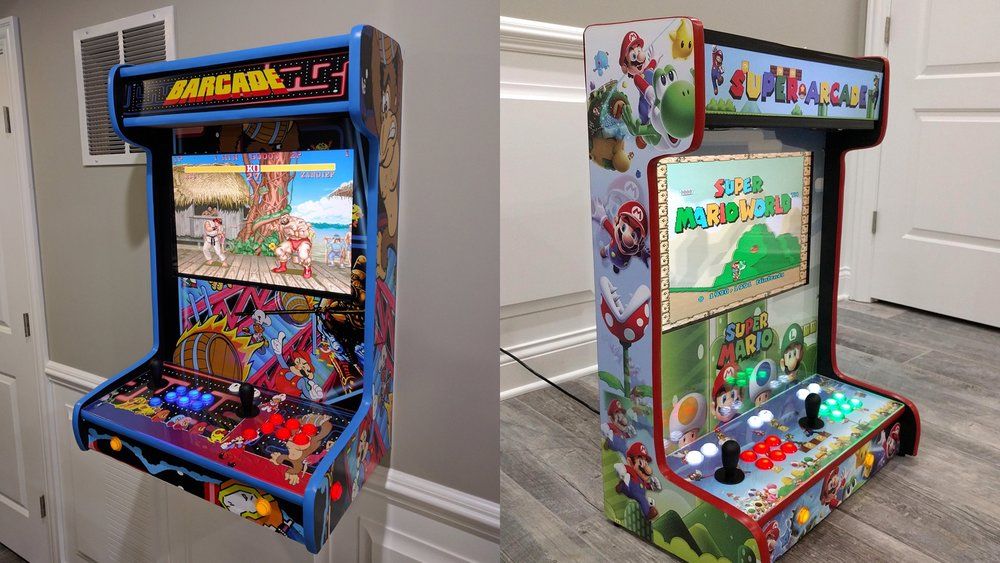 These Wall Mounted Arcade Cabinets Are Radical Geektyrant