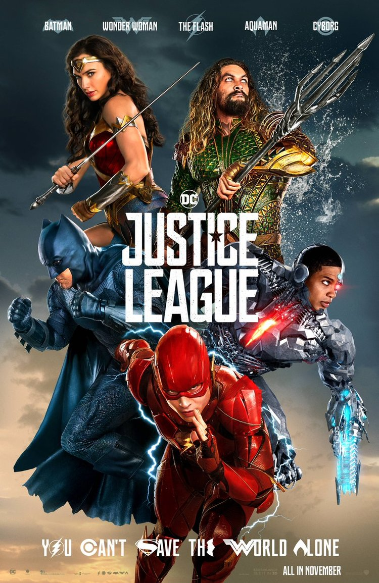 the justice league unites in new poster and banner for the film