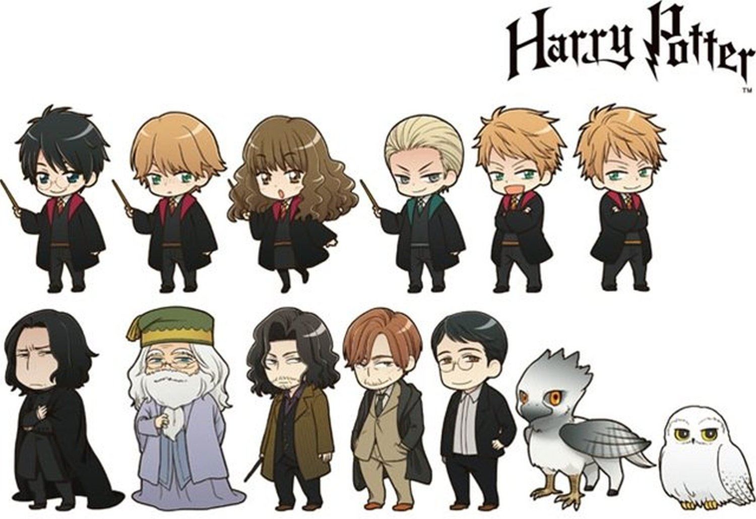 harry potter characters get transfigured into official