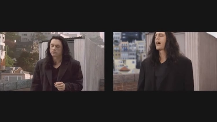 Image result for disaster artist side by side