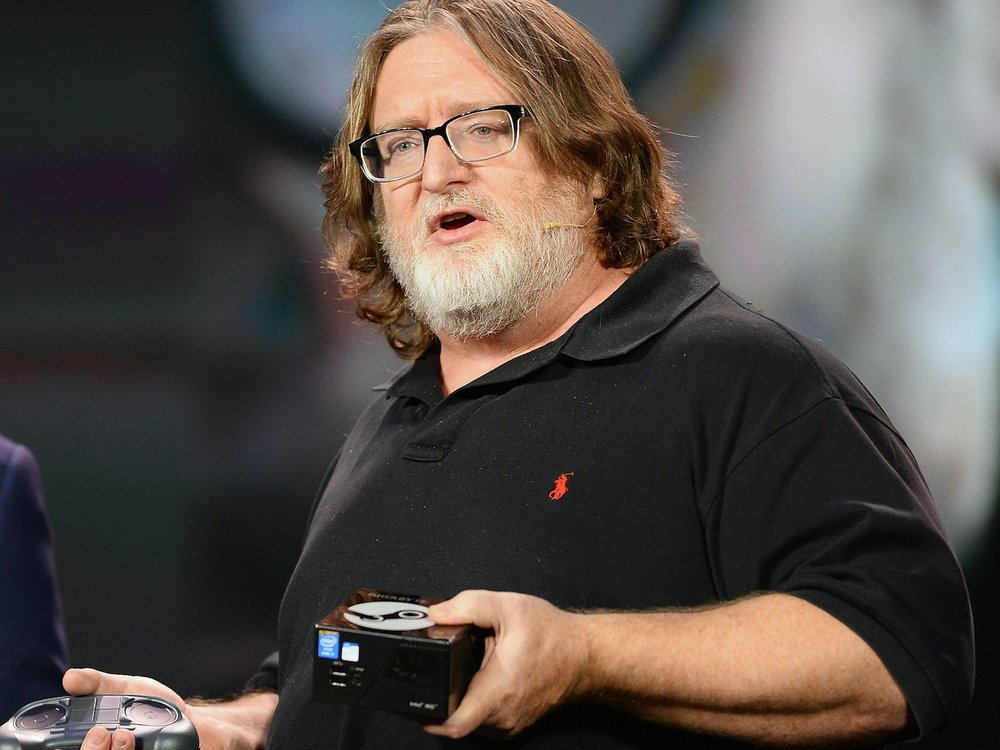 Gabe Newell, the cofounder and managing director of Valve, which owns Steam.
