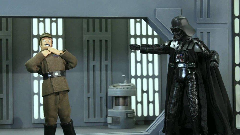 Watch robot chicken poke fun at the empire from star wars geektyrant - Robot blanc star wars ...