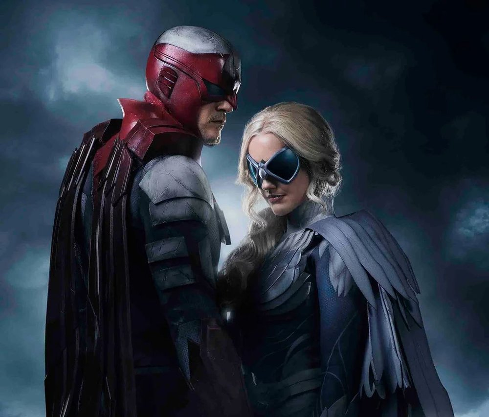 First Wicked Cool Image of Hawk and Dove DC's TITANS Series1