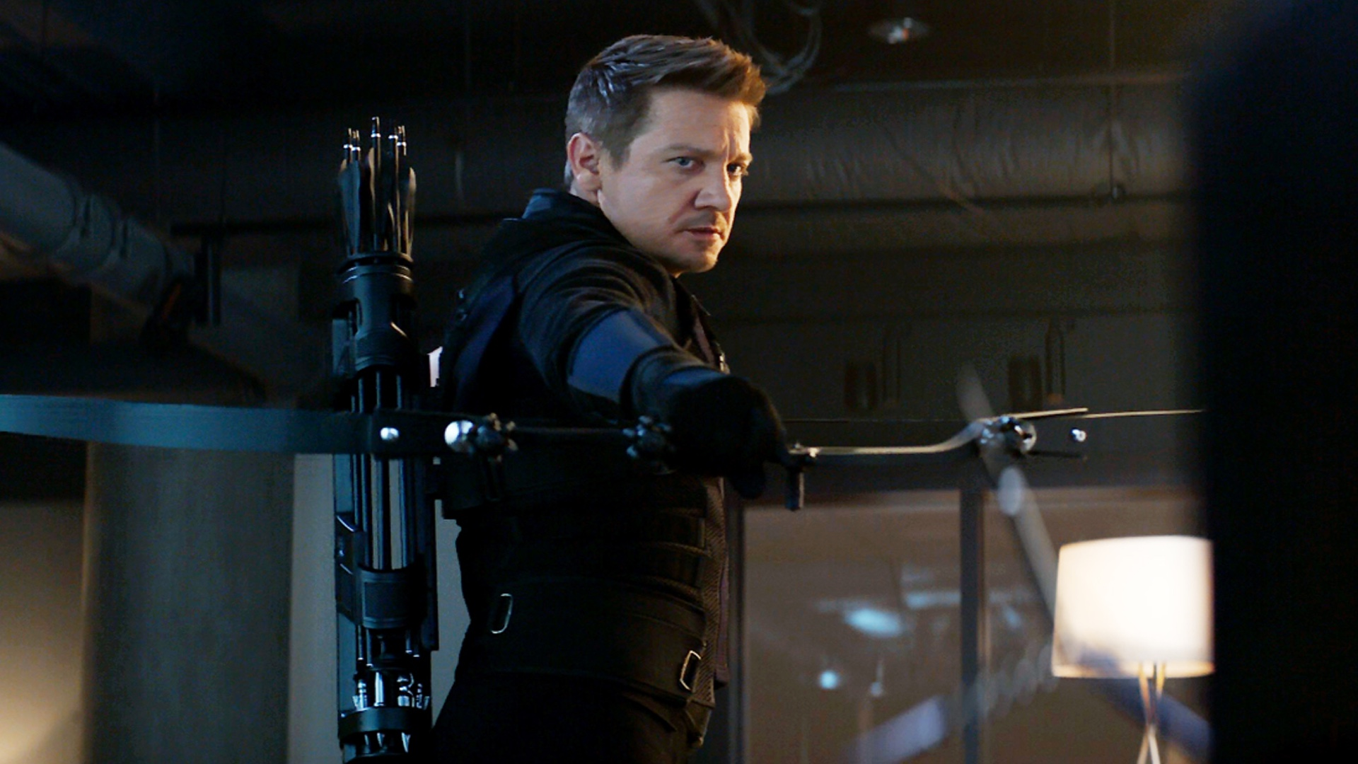"""jeremy renner says they are doing """"wondrous things"""" with hawkeye in"""
