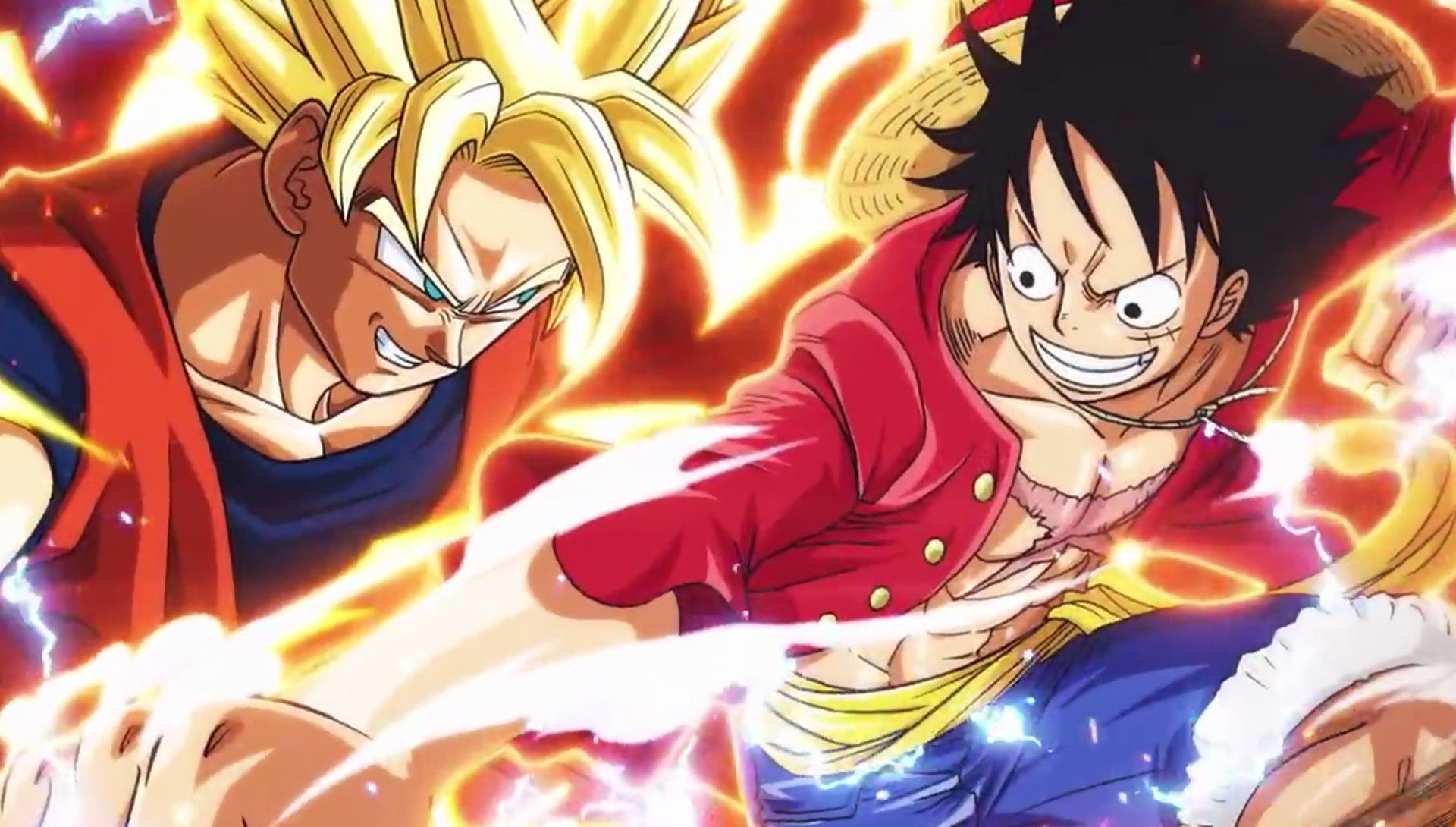 watch luffy and goku black fight in awesome flipbook animation