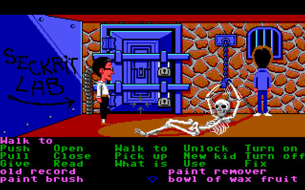 Manic Mansion was the first game to use the might SCUMM engine