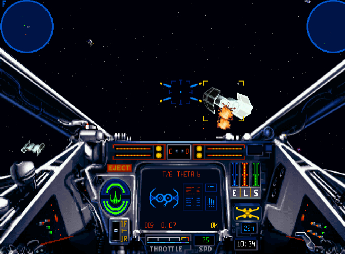 X-Wing put you straight into the cockpit for explosive Tie Fighting Action