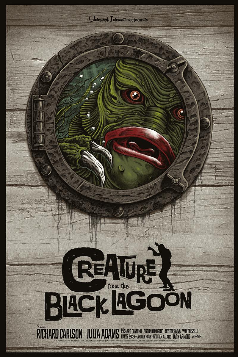 More Stunning Poster Art For Mondo's Universal Monster ... Creature From The Black Lagoon Mondo Poster