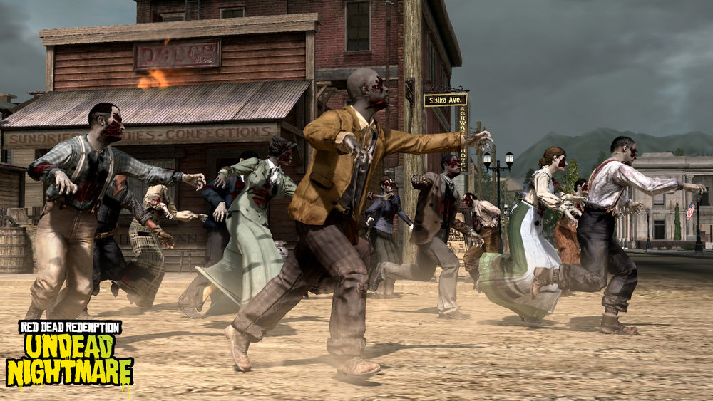Hordes of the undead terrorize John Marston in this fantastic add on