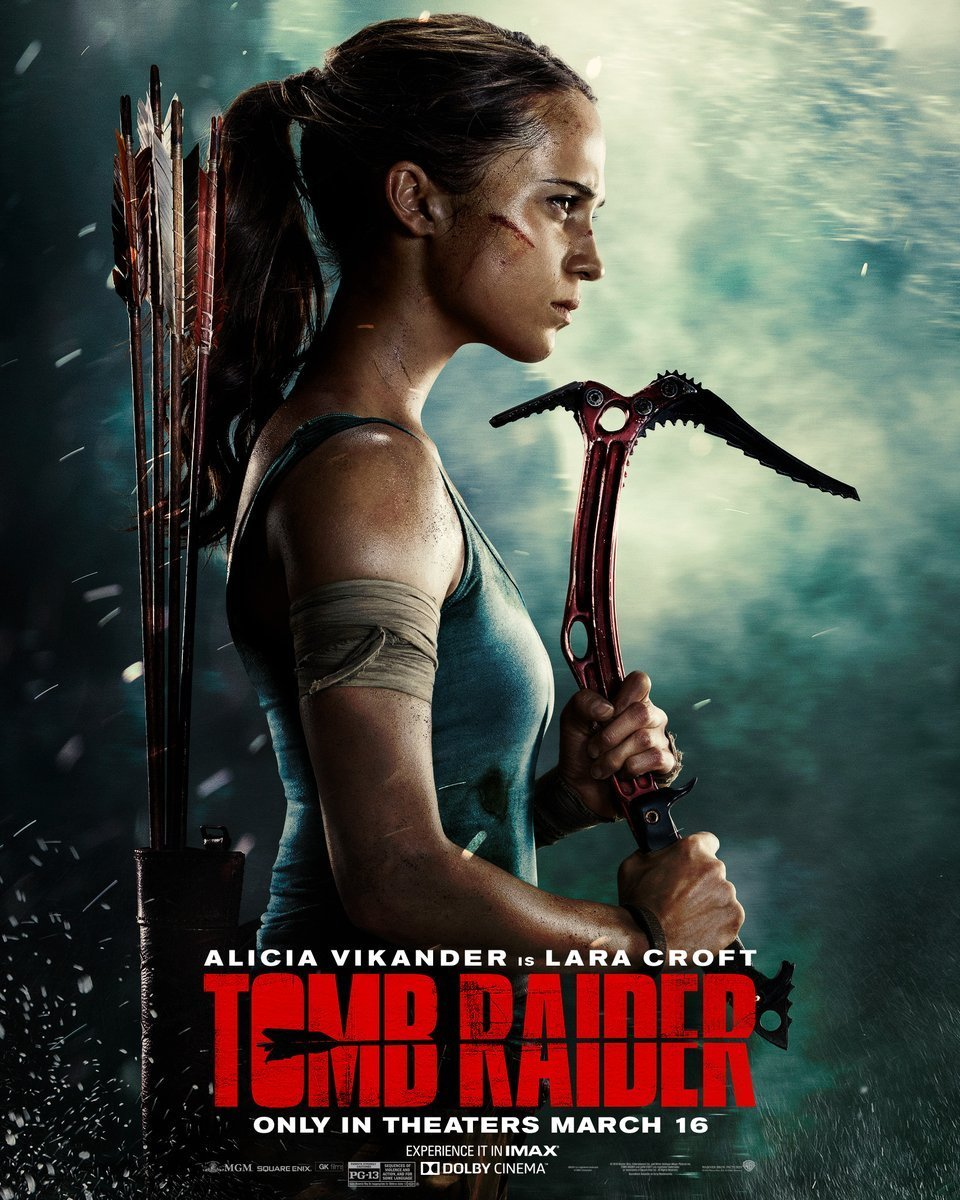 Alicia Vikander Gears Up as Lara Croft in New Poster For TOMB RAIDER