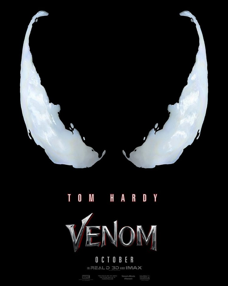 first movie poster released for venom the trailer is coming tomorrow
