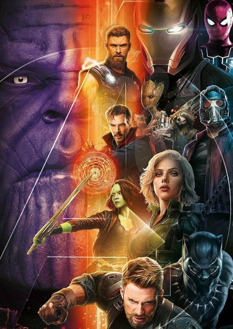 new promo poster art for avengers: infinity war brings all the