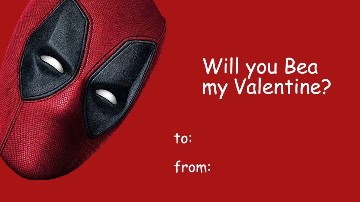 Here Are Some Cheesy Deadpool 2 Valentines Day Cards Geektyrant