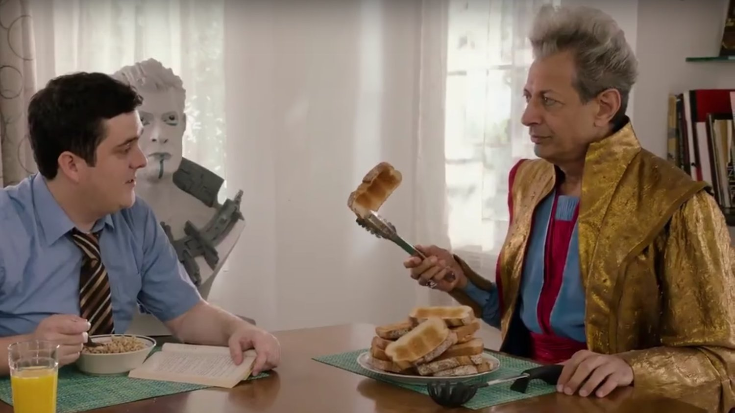 The Grandmaster Starts a New Life on Earth with Thor's old
