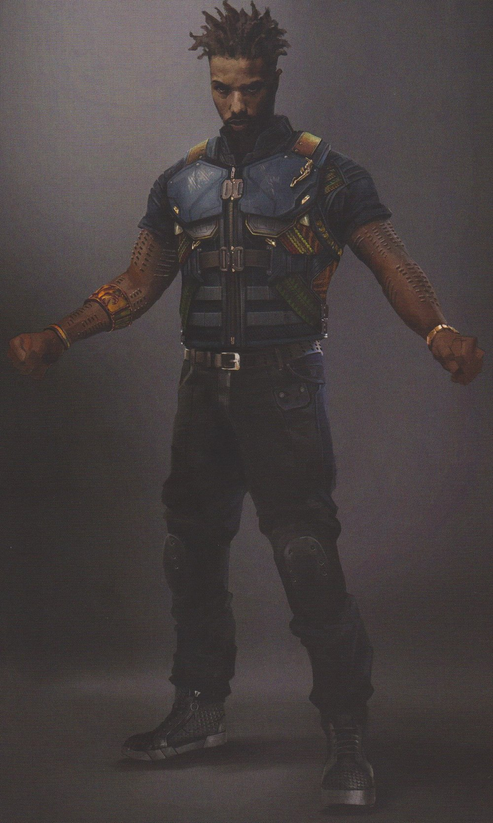 black panther concept art shows early designs for killmonger and his masks  u2014 geektyrant