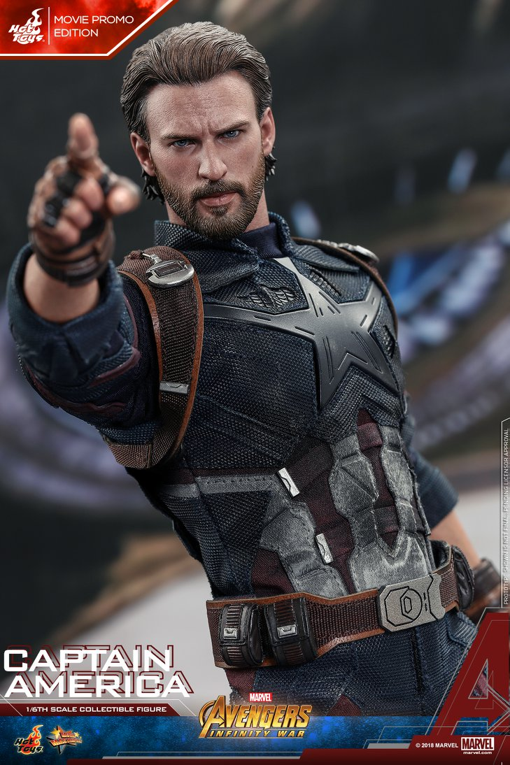 Hot toys reveals their avengers infinity war captain america action figure geektyrant - Image captain america ...