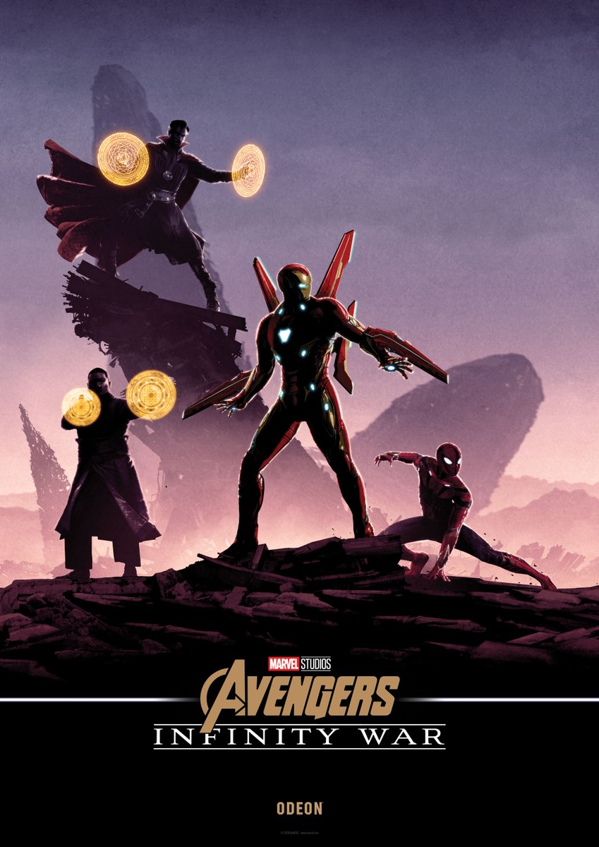 this awesome series of avengers: infinity war poster art comes from