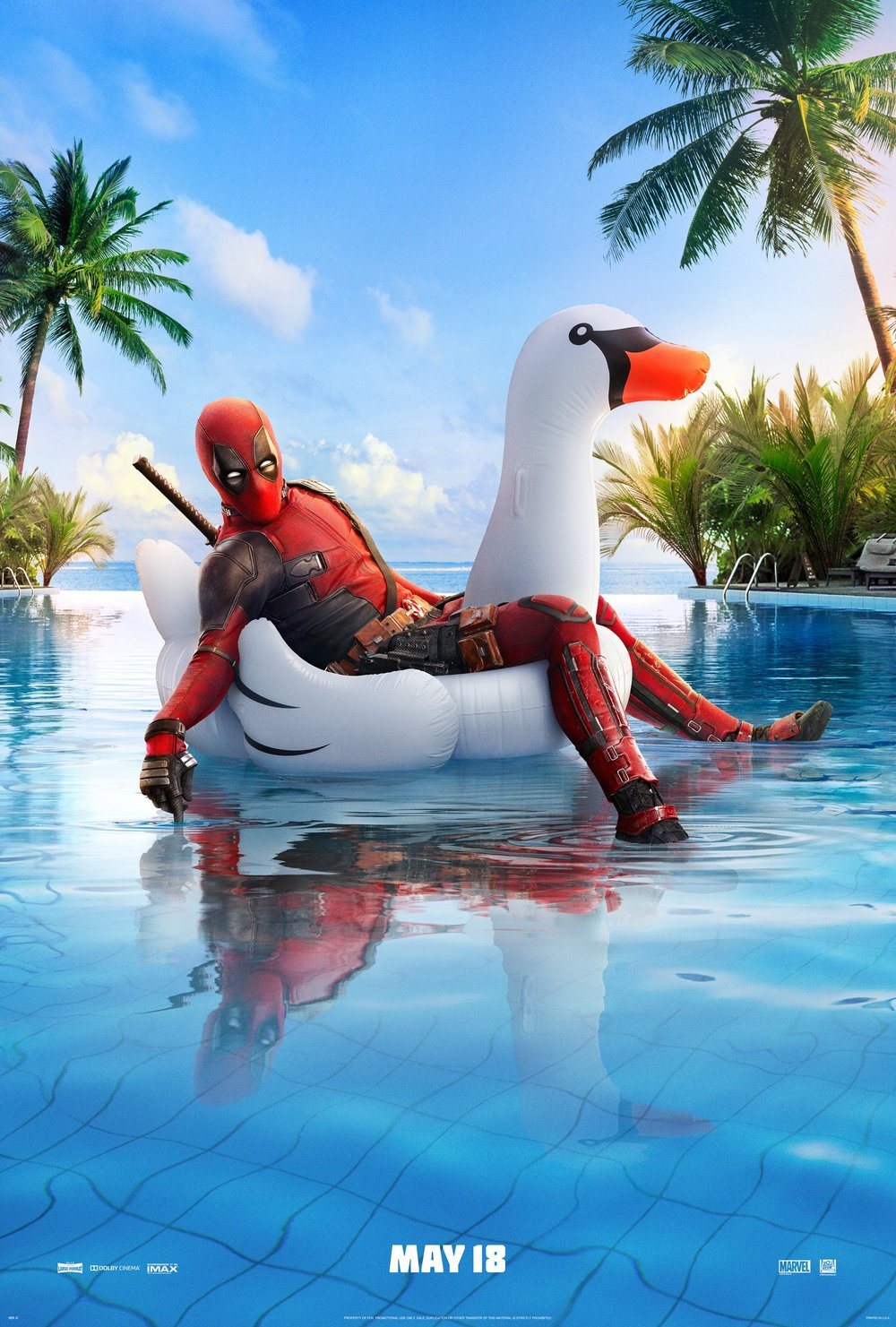 2-new-deadpool-2-posters-features-peter-and-deadpool-relaxing-on-an-inflated-duck-in-a-pool