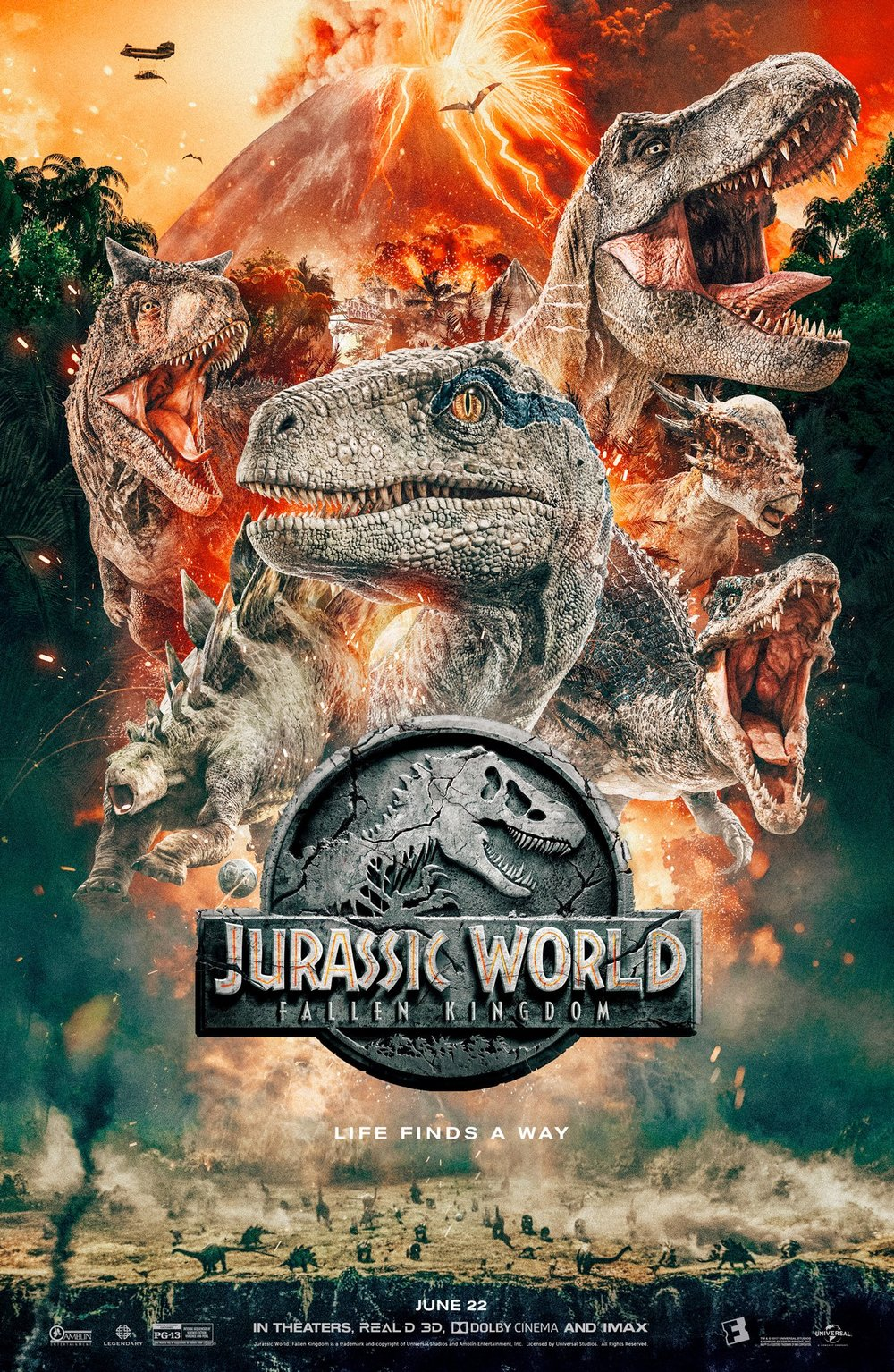 the-dinosaur-cast-is-epically-featured-in-the-new-poster-jurassic-world-fallen-kingdom1
