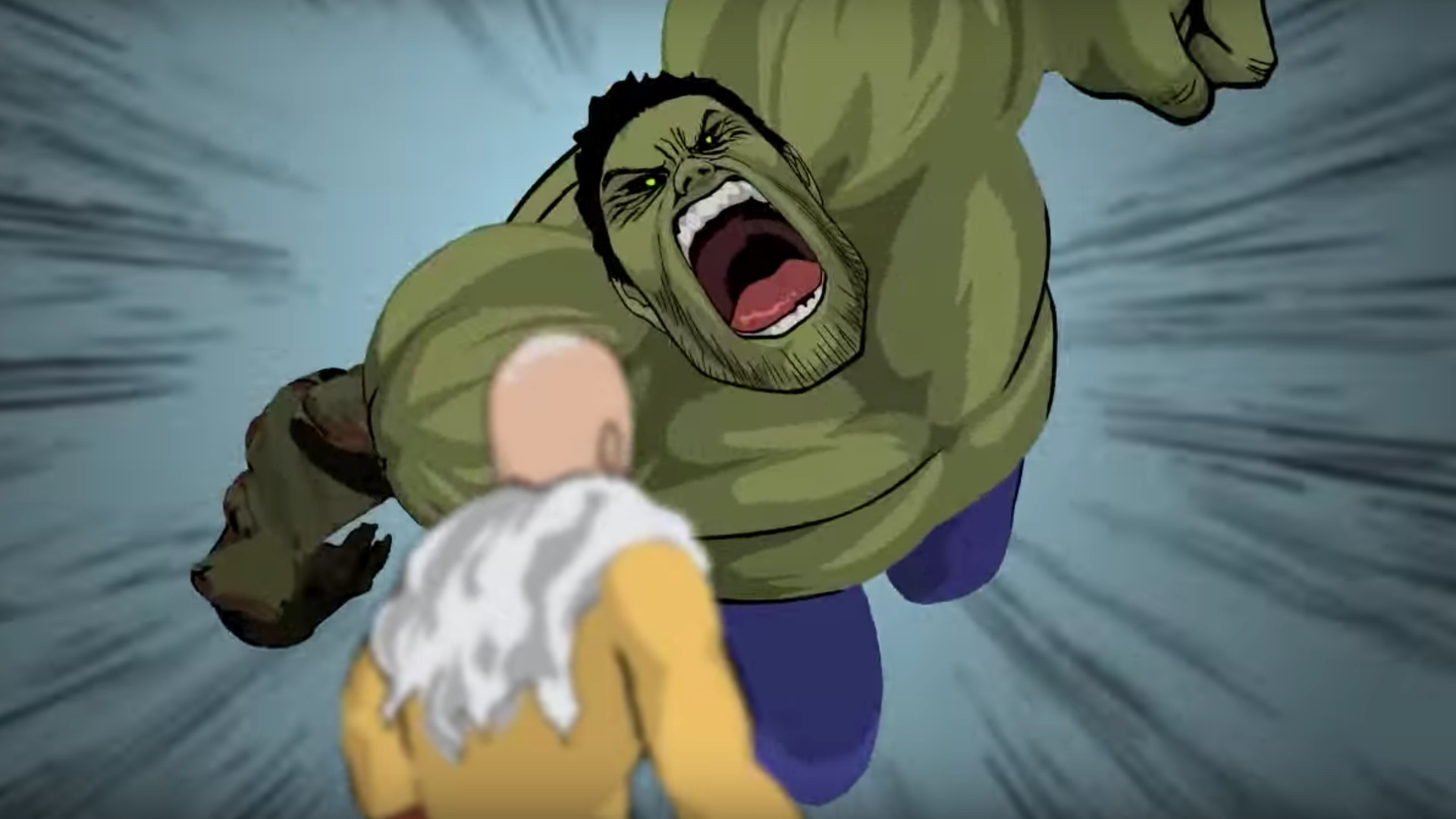 the hulk vs one punch man in this action packed fan made animated