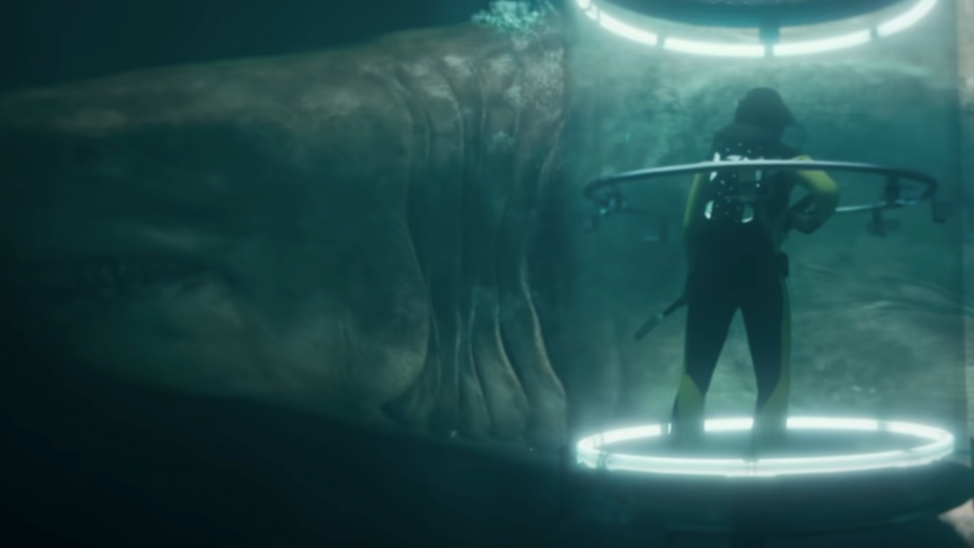 Jason Statham Almost Gets Eaten By a Giant Shark in New Trailer and Poster For THE MEG — GeekTyrant