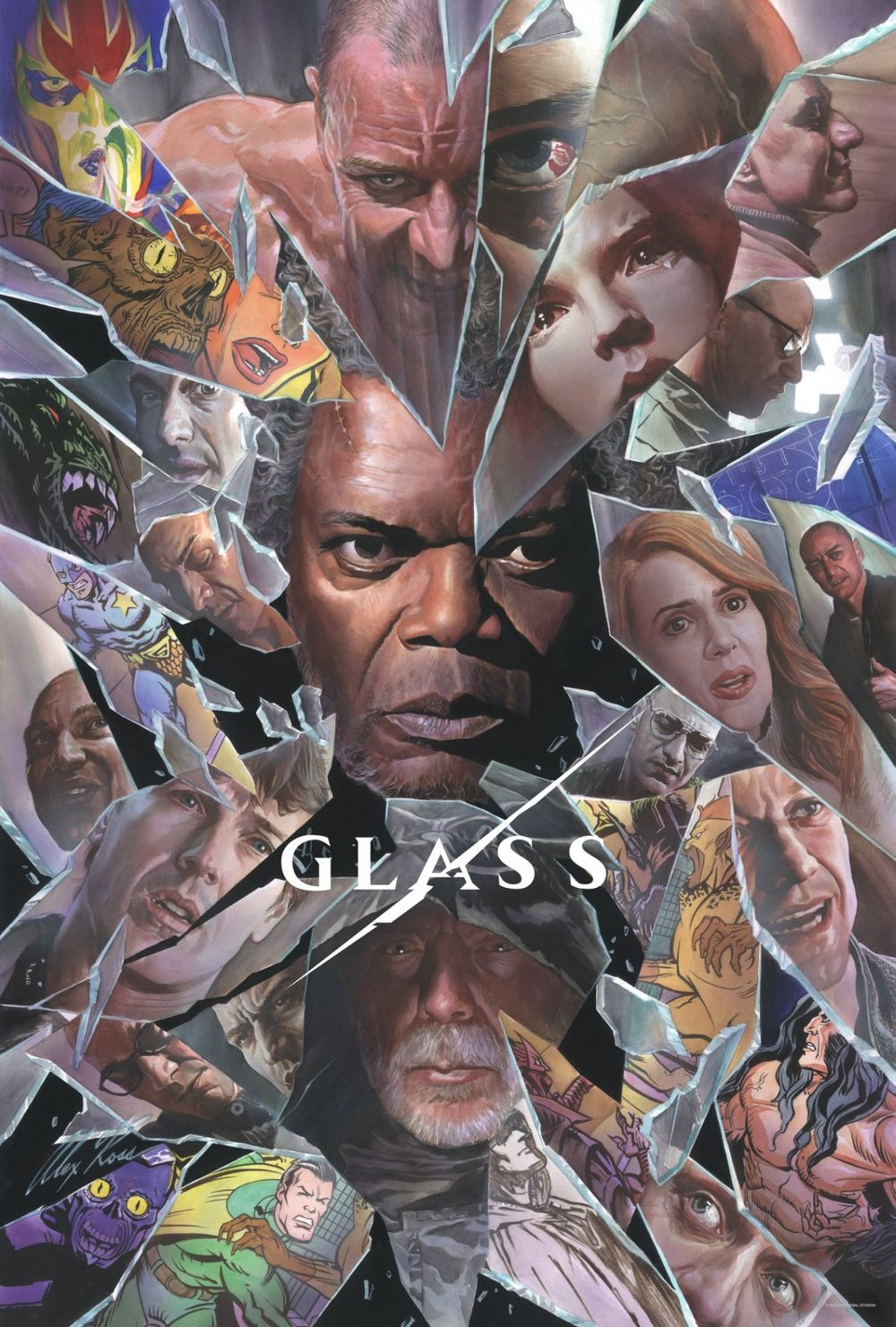 This Cool Comic-Con Poster Art For GLASS Was Created By Alex Ross11