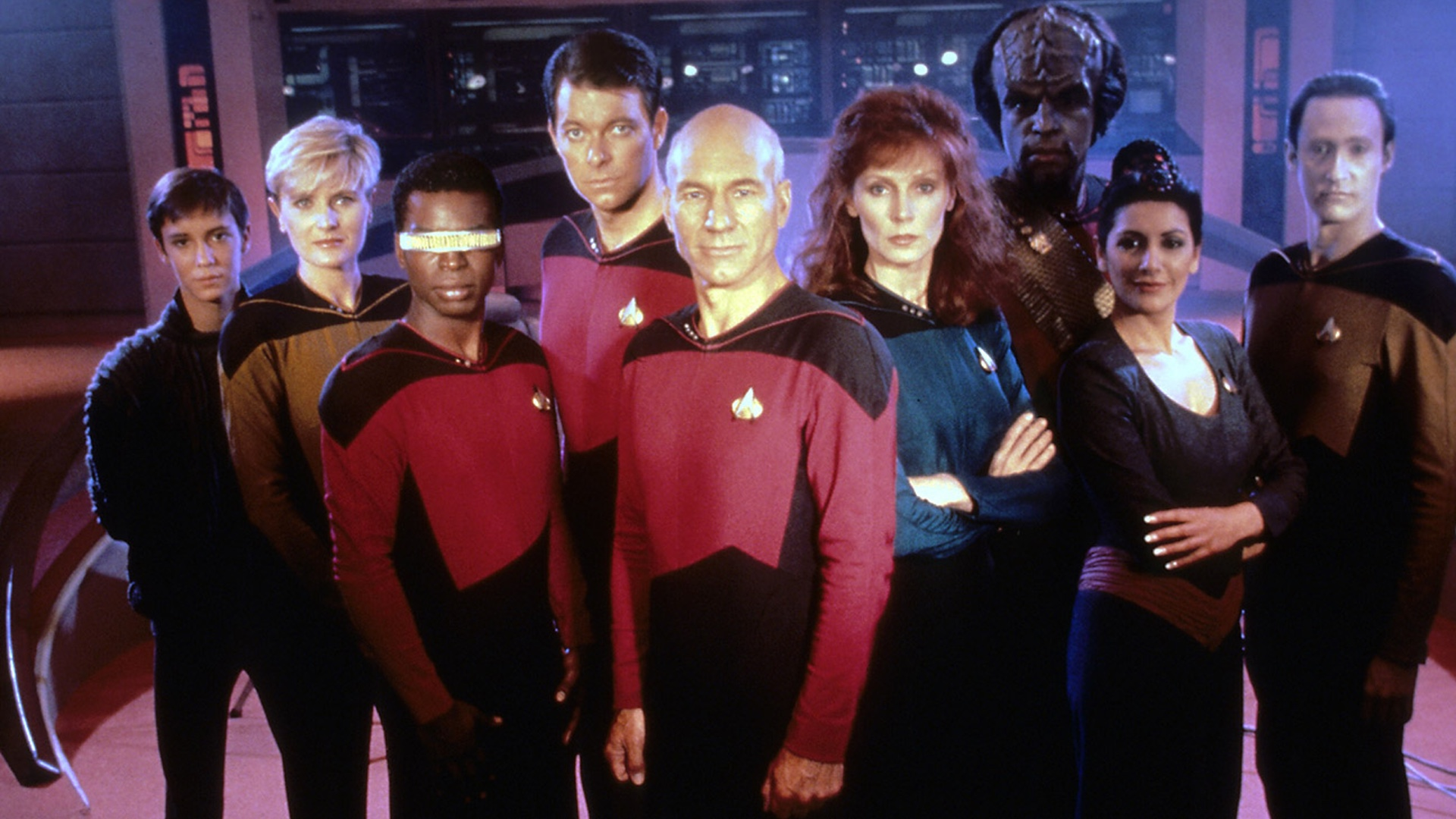 here s a photo of a little star trek the next generation cast