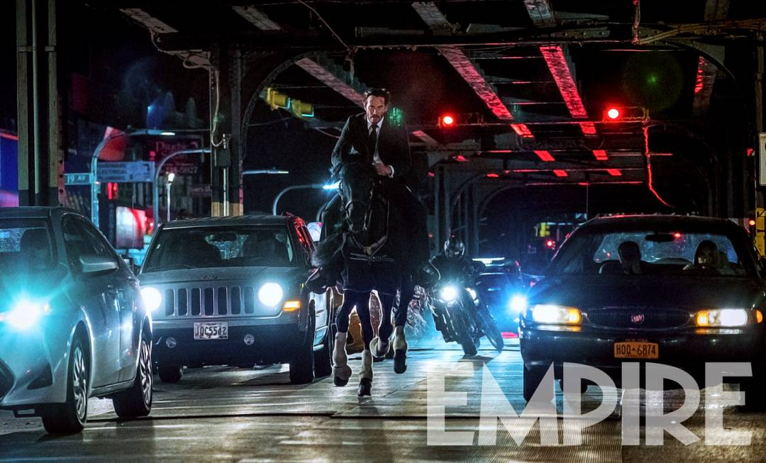 Keanu Reeves Rides A Horse Through New York City In New Photo From