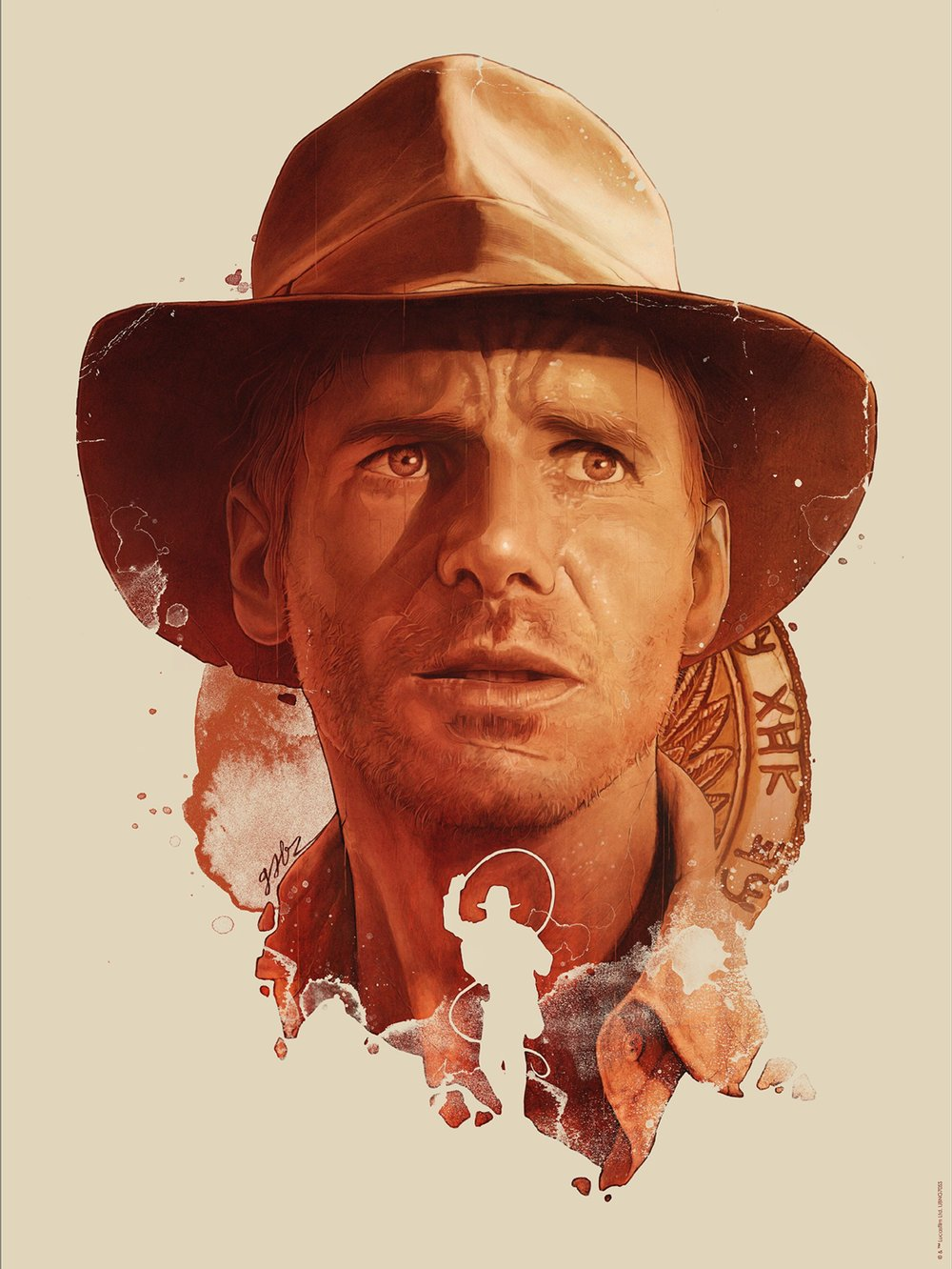 """Gabz """"Indiana Jones"""" giclee, 18 x 24 inches, numbered edition of 200, co-released with Acme Archives, available for $45"""