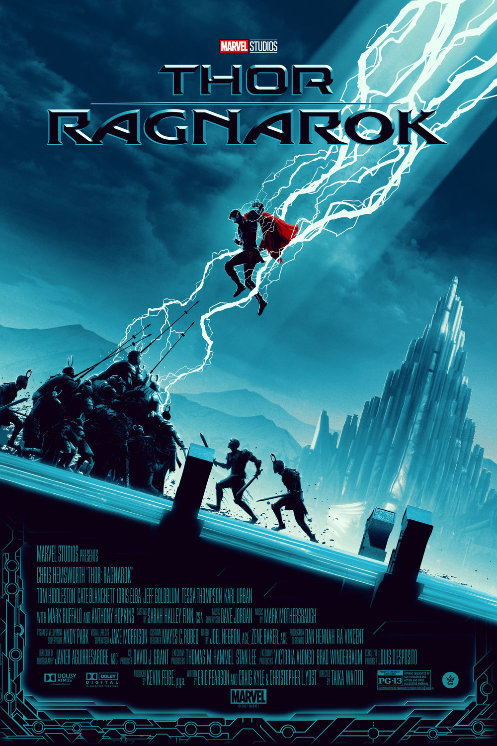 """Matt Feguson """"Thor: Ragnarok"""" screen print, 24 x 36 inches, timed release, co-Released with Grey Matter, available for $50"""