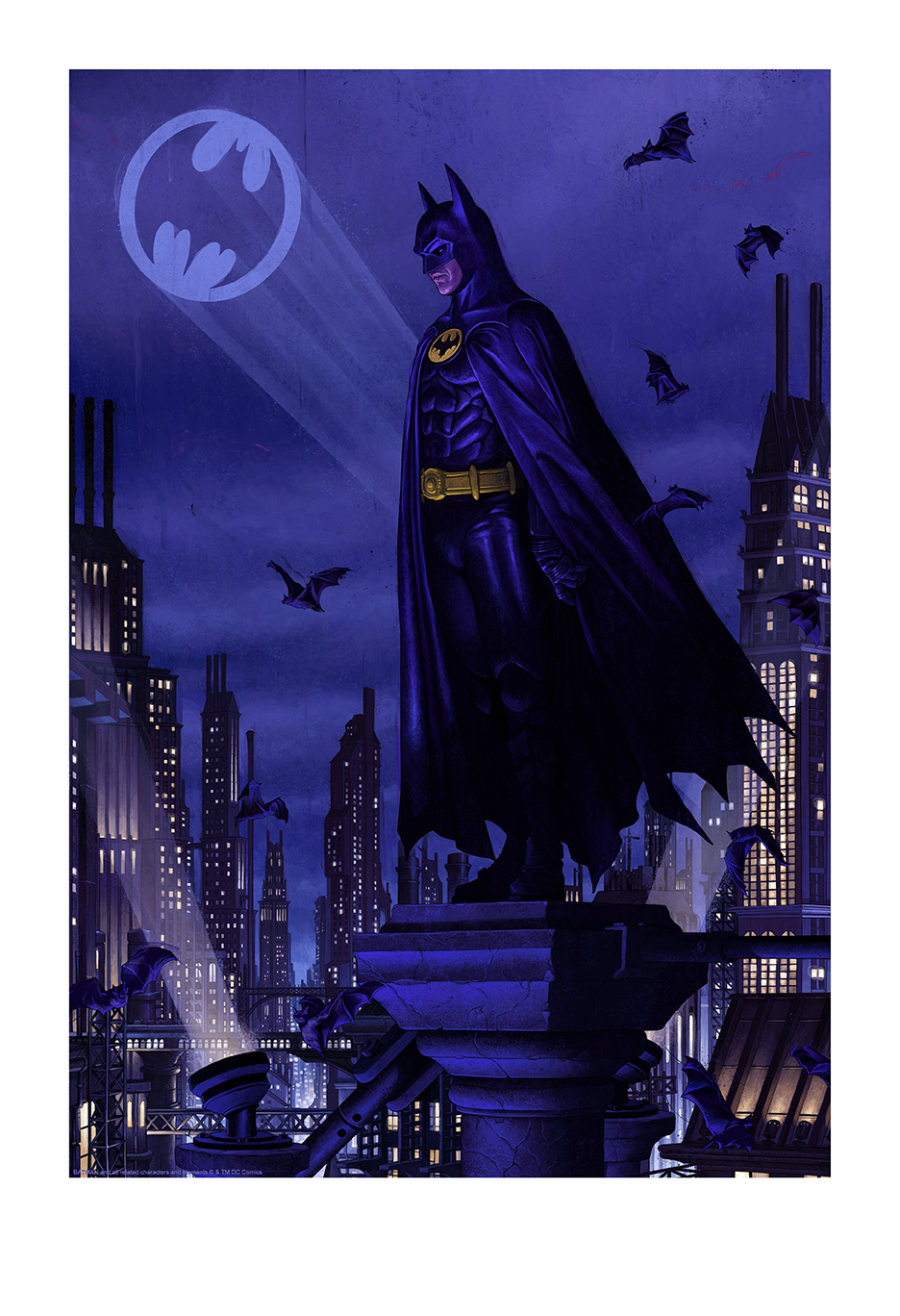 """Rory Kurtz """"Ikonescape: Batman"""" giclee with embossment, 13 x 19 inches, numbered edition of 350, available for $75"""