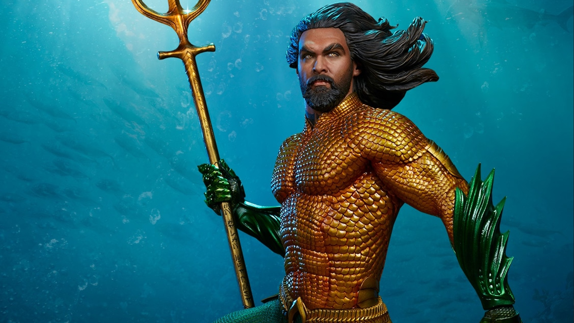Sideshow Collectibles Has Unveiled Their Premium Format Figure Based On Jason Momoas Version Of Aquaman In Director James Wans Upcoming Film
