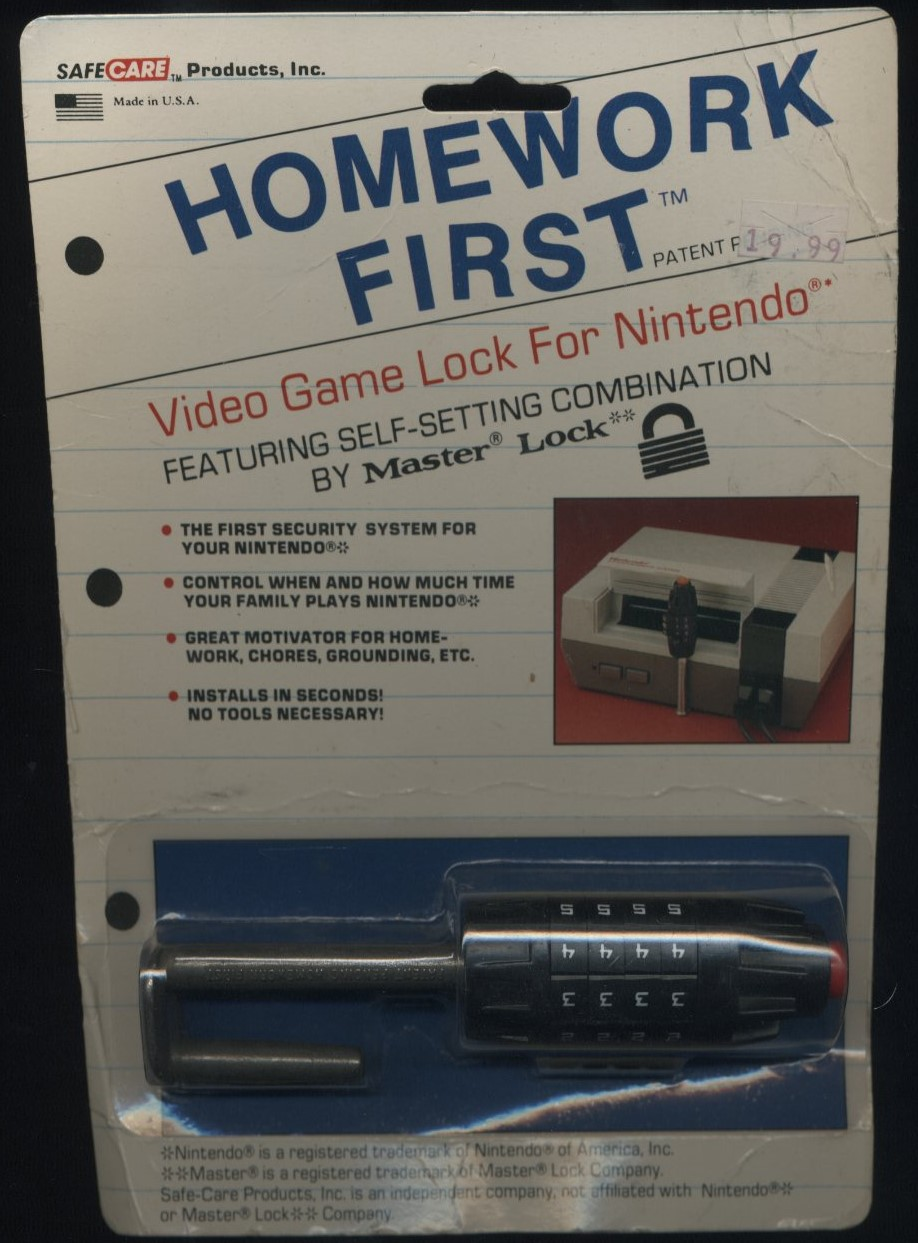 Did You Know There Was a Video Game Lock For The Nintendo Entertainment System in the 80s?1