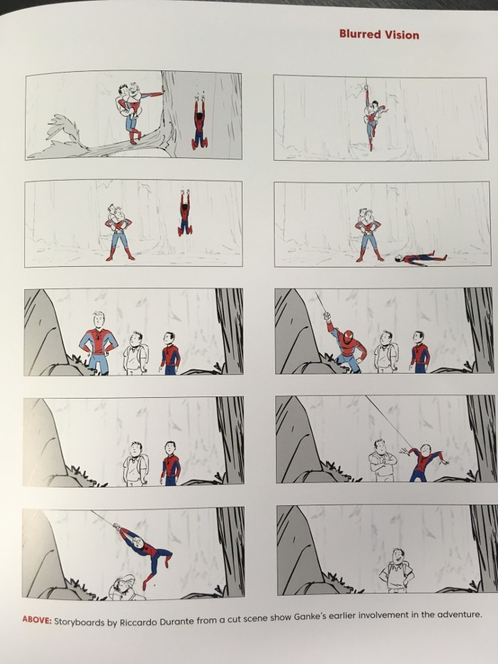 SPIDER-MAN: INTO THE SPIDER-VERSE Storyboard Art Shows Ganke's Deleted Scene and He Will Have a Bigger Role in the Sequel