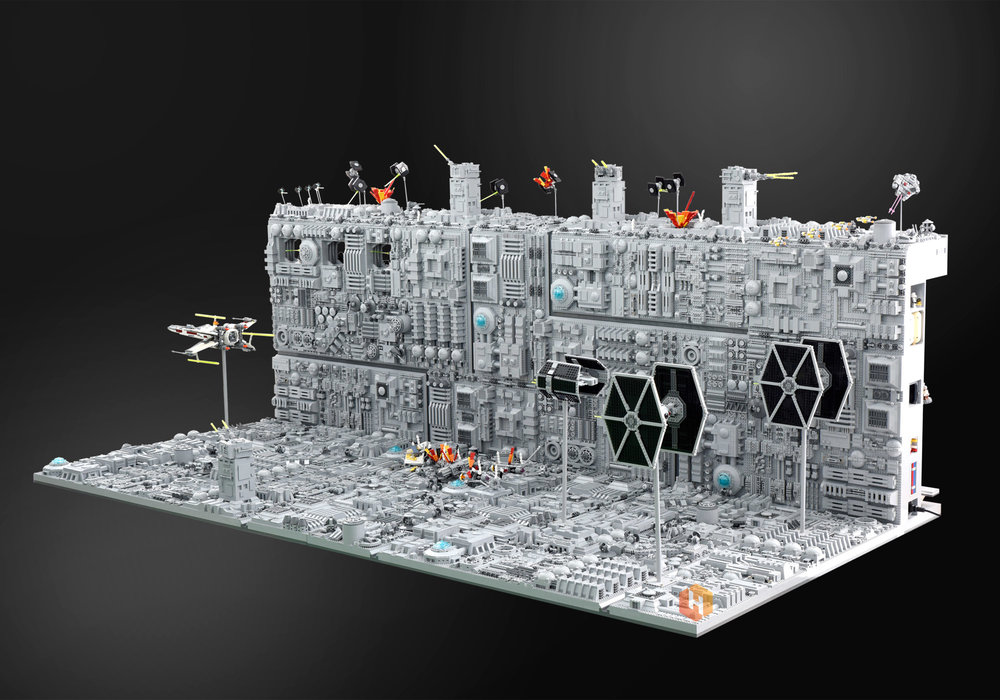 super-detailed-lego-diorama-of-the-star-wars-death-star-trench-run-stays-on-target1