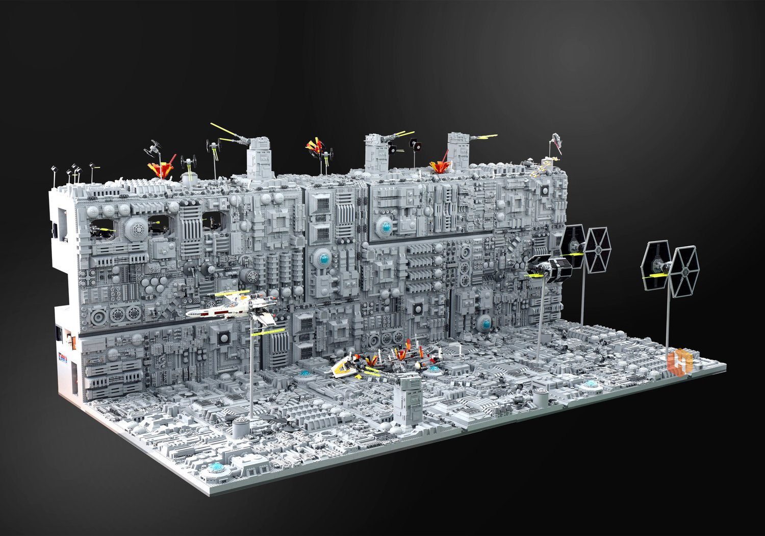 super-detailed-lego-diorama-of-the-star-wars-death-star-trench-run-stays-on-target5