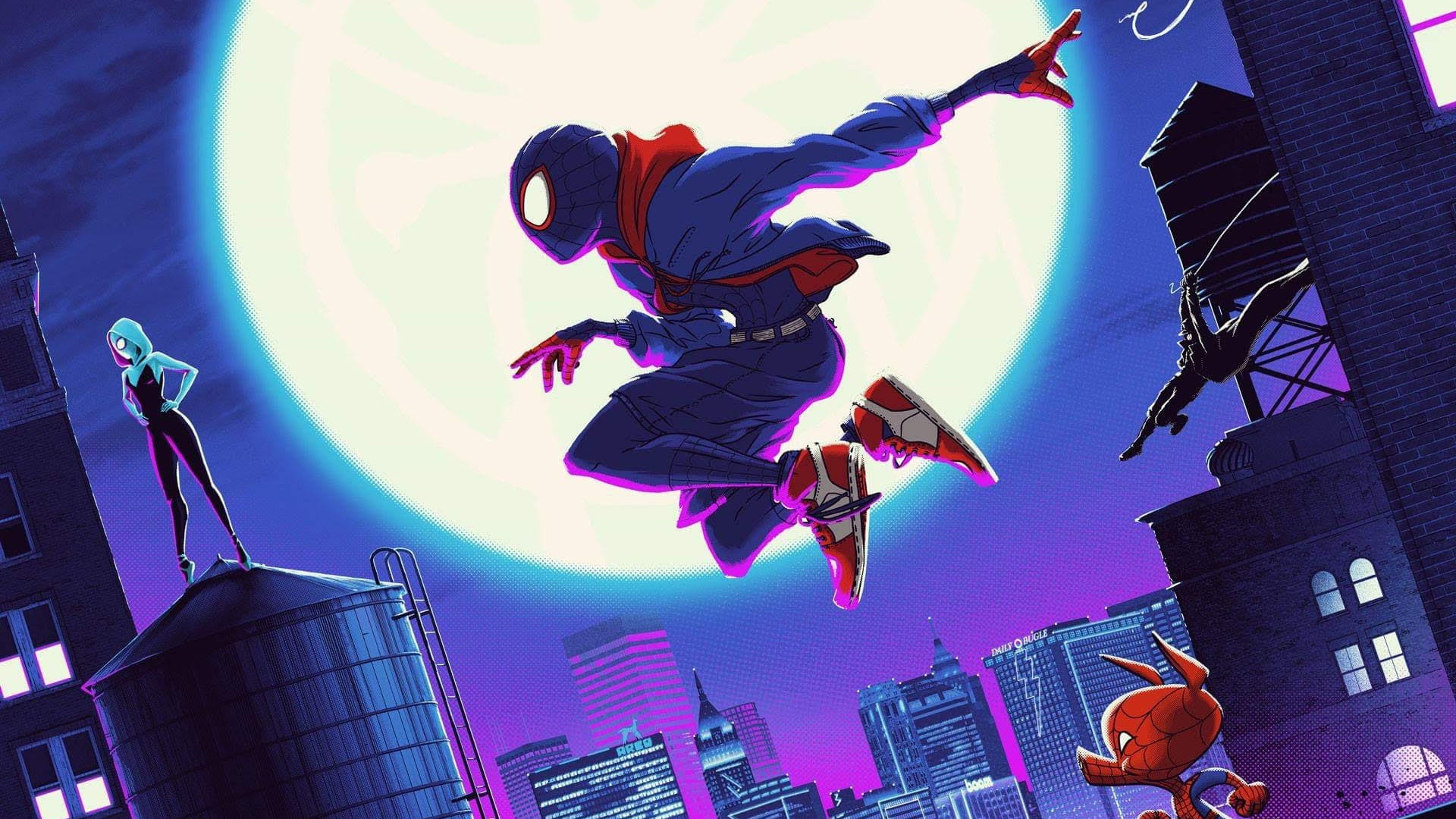 This Cool Spider Man Into The Spider Verse Poster Art From Matt
