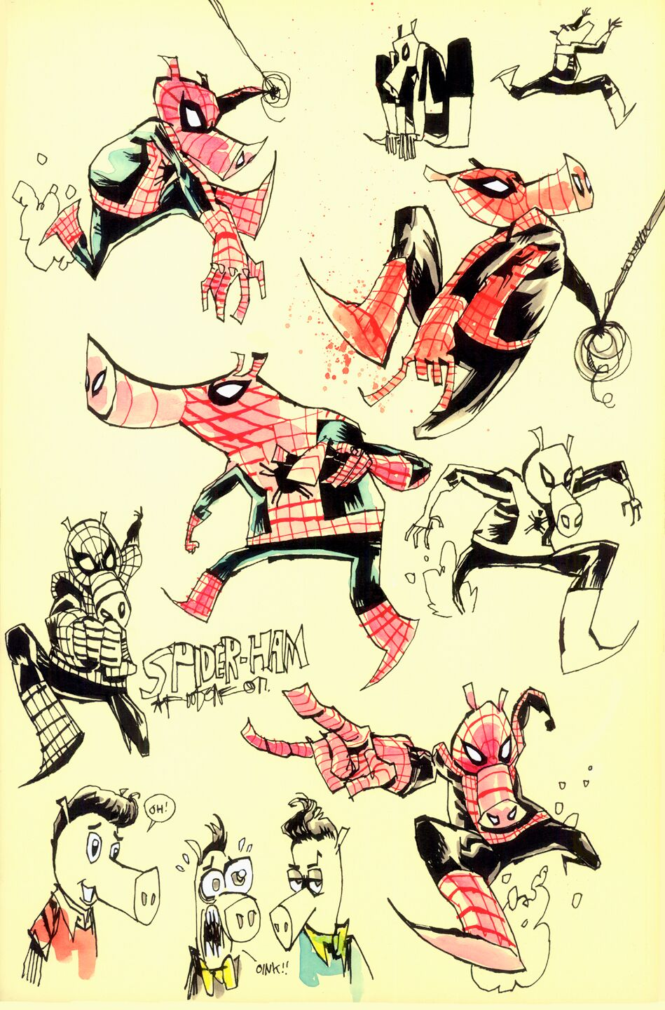 new-spider-ham-focused-featurette-and-concept-art-from-spider-man-into-the-spider-verse